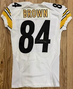 Antonio Brown Game Used Pittsburgh Steelers Autographed Jersey Game Worn NFL