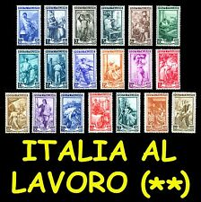 ITALIA 1950 Repubblica Serie Italia al Lavoro MNH ** Integri, valori a scelta