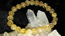 Citrine Stone Bracelets 8 mm *Wisdom*Prosperity*Happyness AAA+++ 100% Natural