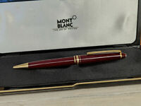 MONTBLANC Meisterstuck Burgundy Red Classique 164R Ballpoint Pen, EXCELLENT!