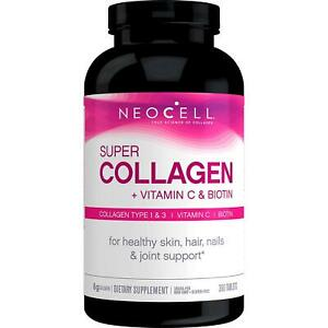 NeoCell Super Collagen+C Type I & III (1 & 3), 360 Tablets, FRESH, Made In USA