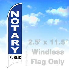 Flag Only 2.5' WINDLESS Swooper Feather Banner Sign - NOTARY PUBLIC v2b