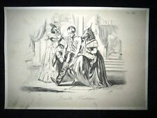 Incisione d'allegoria e satira Francia, Austria, Inghilterra Don Pirlone 1851