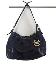 michael kors blue snake embossed leather purse