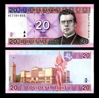 Genuine 1993 Lithuania Lietuva UNCIRC 2 Litai Litas Paper Banknote Money 429