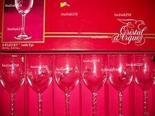 Cristal D'arques  6  Verres a eau modèle fleury taille épi
