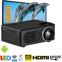 4K HD 1080P LCD LED Android Smart 3D Home Theater Projector Portable HDMI AV USB