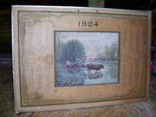 Grand (40 x 31cm) Calendrier de 1924 - Port gratuit.