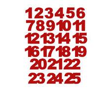Calendario Avvento Pagare 24 25 Immagine da Stirare Patch Miniblings 30mm Liscio