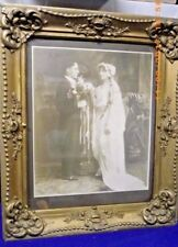 Antique STUNNING WEDDING PHOTOGRAPH FRAMED WITH GILDING FRAME EXTREMELY NICE