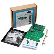 """SATA-3 to m.2 mSATA SSD 0/1/JBOD RAID Adapter 3.5"""" Enclosure or PCI + USB Cable"""