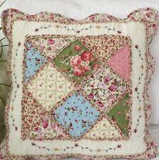 Shabby Chic Cushion Throw Pillow Cover Sham Pink Cream Green Blue 45cm