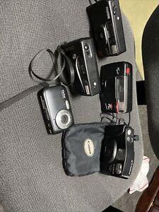 5 Lot of Vintage Cameras 35mm w/film Vivitar Digital Camera Polaroid