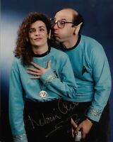 "ROBIN CURTIS & ERIC MENYUK ""Star Trek"" Autographed 8 x 10 Signed Photo COA"