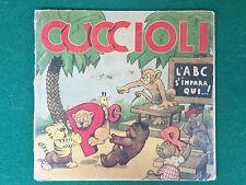 Gislimberti L'ABC DEI CUCCIOLI Edital Rosa d'oro/15 (1945) Libro ill. DA PASSANO