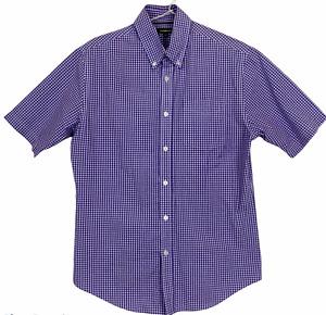 Croft & Barrow Mens Purple Check Short Sleeve Button Up Shirt Size S
