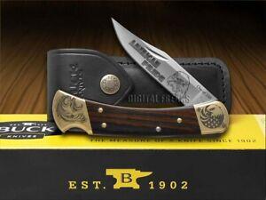 Buck 110 Faltbar Hunter Messer American Stolz Ebenholz Holz 1/250 420HC Edel
