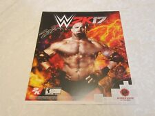 Fan Expo 2016 Canada WWE 2K17 EB Games Bill Goldberg Print Signed Poster Print