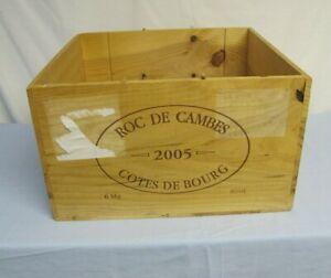 Wine Box Roc De Cambes Cotes De Bourg Wooden (empty)