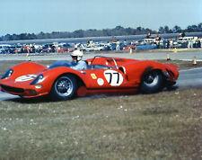 Vintage Color 8X10 1965 Daytona Ferrari 330 P2 John Surtees / Pedro Rodriguez