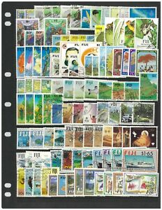 Fiji 1987-92 Commemorative & Special Issues 103 Stamps Complete Sets CTO/FU #413
