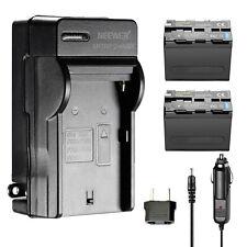 Neewer 2 piezas 6600mah Batería de Li-Ion recambio para Sony Np-f970 y cargador