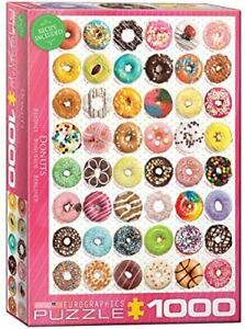Jigsaw puzzle 1000 pieces Euro Graphics Sweet Collection Donuts 6000-0585