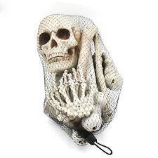 Bag of Bones 12 Piece Skeleton Pieces Halloween Decoration Props NEW