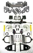 1935-1940 Ford Car Truck Mustang II Power Front End Suspension Kit Drop Slotted