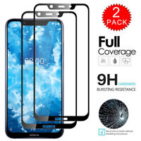For Nokia 8.1 - Full Coverage Tempered Glass Film Screen Protector [2-Pack]