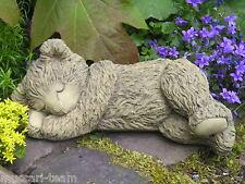 Steinfigur Gartenfigur Stein Teddy Teddybär schlafend Steinguss Frostfest