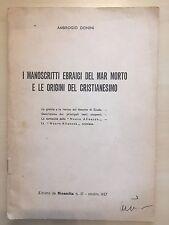 AMBROGIO DONINI  MANOSCRITTI EBRAICI DEL MAR MORTO CRISTIANESIMO PCI LINA MERLIN