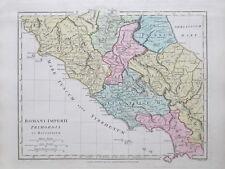1801 Italia los inicios del Imperio Romano Wilkinson Mapa Mano De Color