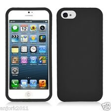 APPLE iPHONE 5 SNAP ON HARD COVER CASE PHONE ACCESSORY BLACK