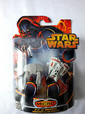 Star Wars AT-AT & Snowspeeder Micro Vehicles w/Snowtrooper & Luke Skywalker NIB