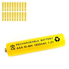 20 pcs AAA 3A 1800mAh 1.2V Ni-MH rechargeable battery Solar Light MP3 RC Yellow