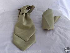 GG>Greenish Gold-BOYS Polyester Scrunchie Ruche Wedding Tie-Cravat & Hanky>Page