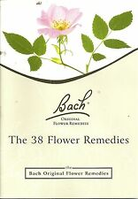 Bach Flower Original Remedies The 38 Flower Remedies booklet 2001 FREE SHIPPING