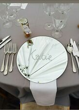 Mirror Glass Charger Plates For Hire