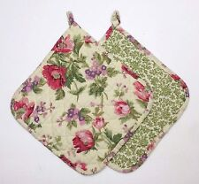 Set of 2 Great Finds GINA Quilted Cotton Pot Holders