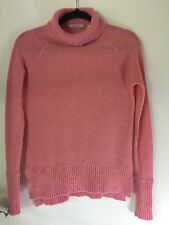 Women's pink wool Country Road turtle neck jumper
