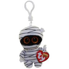 "TY Beanie Baby Boos 3"" MUMMY the White Mummy Key Clip Toy Halloween Plush MWMT's"