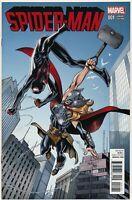 Spider-man 1 (2016) 1:25 Mark Bagley Variant Miles Morales Jane Foster Lady Thor