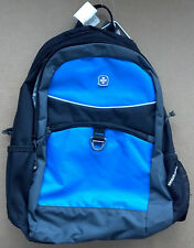 NEW Wenger SwissGear Blue & Black Ergonomic Backpack w/ Padded Tablet Pocket