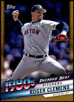 Roger Clemens 2020 Topps Decade's Best Series 2 5x7 Gold #DB-64 /10 Red Sox