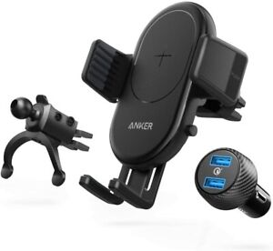 Anker Wireless Charger PowerWave 7.5 Car Charger with Air Vent Phone Holder 10W