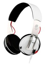 SkullCandy Grind Premium On-Ear Headphones Tap-Tech Control Mic White/Black/Red