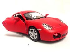 """Porsche Cayman S, 5"""" Diecast 1:32 ,Pull Back Action To Go,Toys Boys Girls, Red"""