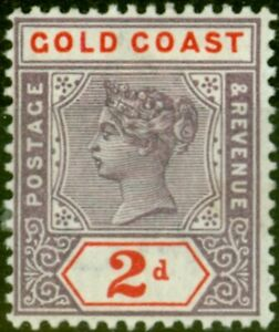 Gold Coast 1902 2d Dull Mauve & Orange-Red SG27b V.F Very Lightly Mtd Mint