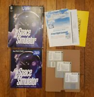 "Microsoft Space Simulator PC Game 1994 MS-DOS 3.5"" Floppy Disk Vintage Computer"